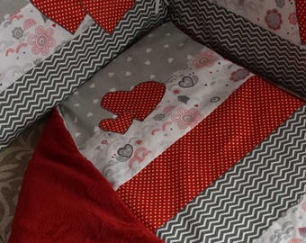 Plaid baby bumper cover