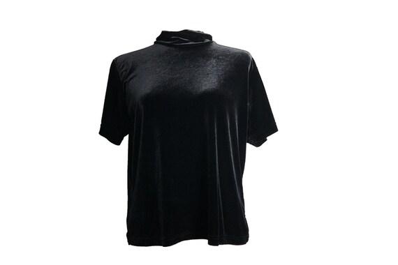 1990s black velvet top