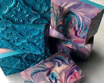 Soap Pink Berry Mimosa Artisan Soap, Cold Process Soap, Handcrafted Soap