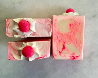 Soap Little Pink Bar Artisan Soap, Cold Process Soap, Handcrafted Soap