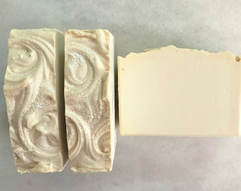 Strawberries and Cream Artisan Soap, Handmade Soap, Cold Process Soap