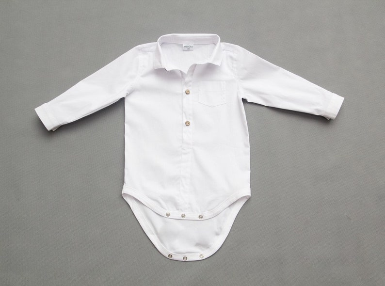 9385a5930b346 Body de lin blanc Body mariage bébé garçons baptême blanc