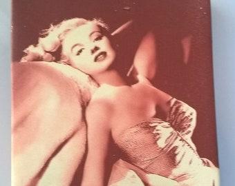 Print Marilyn Monroe on canvas holographic 25 x 19 cm