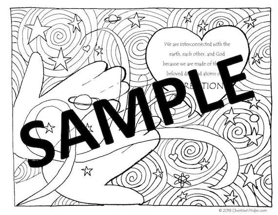 Ash Wednesday Coloring Page Etsy