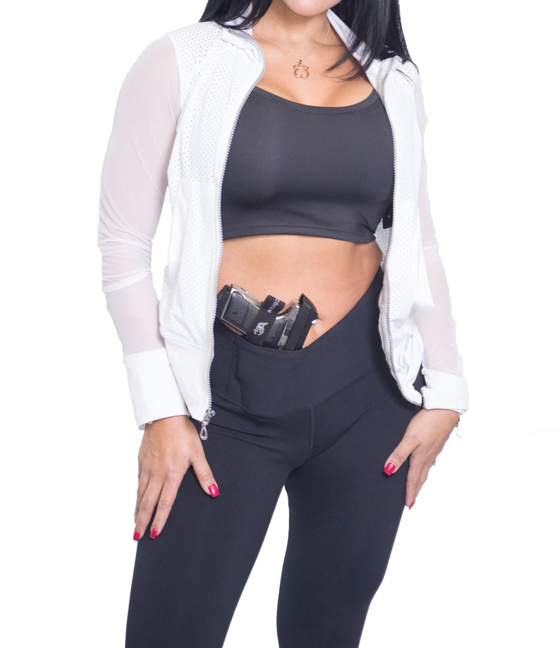 7757f2f0129e73 AC UNDERCOVER Yoga Pant Legging Holster CCW Concealed Carry   Etsy