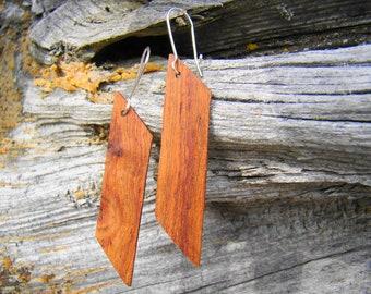 Wood Earrings Wooden Earrings Handmade Earrings Mother's Day gift