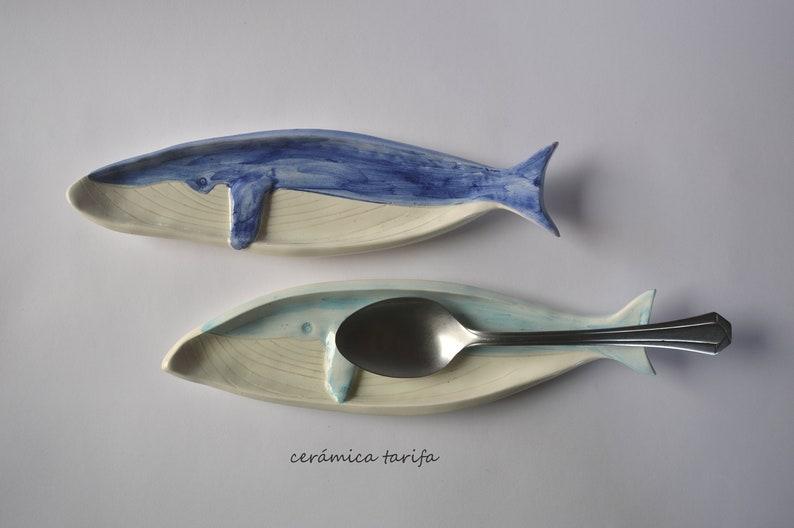 Ceramic Fin Whale Dish