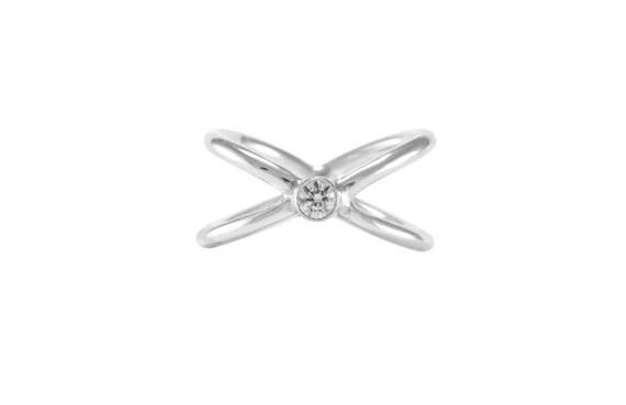 Cross Diamond Ring Silver Ring Birthday Gift Christmas Gift Etsy