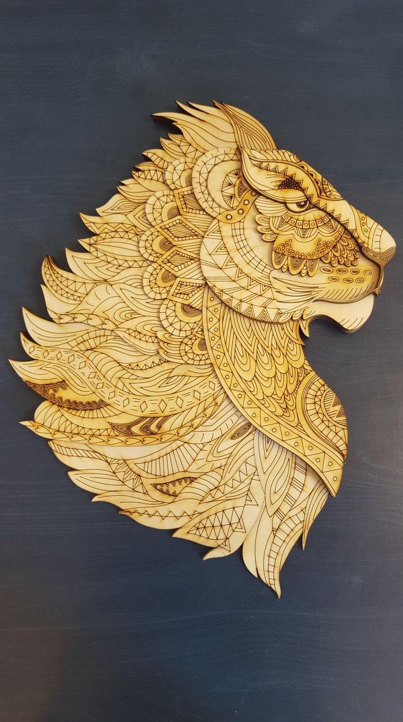 Lion files for laser Instant download multilayer wood laser cut vector  model Laser Pattern Decor vector file, vector cut file