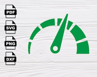 Speedometer SVG VECTOR, Clipart Svg Files, printing design, png, pdf, Cricut files DXF, Cutting file, Insta Download