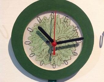 Green Man Dreamcatcher Clock