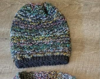 f5f1afa69 Knit scarf hat set | Etsy