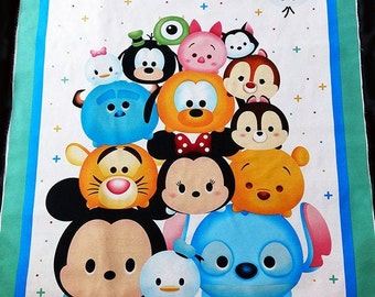 100/% Cotton Fabric Springs Creative Disney Tsum Tsum Packed Characters