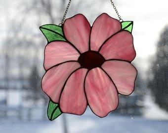 Stained Glass Flower Sun Catcher