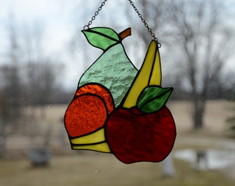 Stained Glass Fruit Sun Catcher