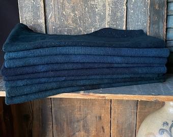 WILDFLOWER BLUE Hand-Dyed Wool Collection - 1/4 yd Premium Wool