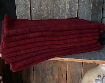 RED WING (2-38) Hand-Dyed Wool Collection - 1/4 yd Premium Wool