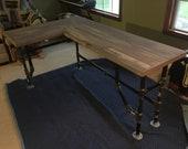 Pipe desk, media desk, office desk, L - shaped , corner desk