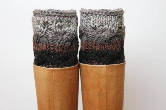 Boot Cuffs Winter Accessories Stitching Warm Socks Warm Gifts For Women Leg Warmers Over the Knee Socks Hand Knitted Wool Leg Warmers