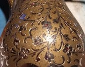 Vintage Brass and Silver quot Dallah quot Saudi Arabia Coffee Pot