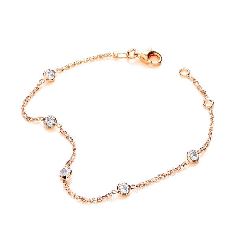 d3171d026769de HEXYO Dainty 18K Rose Gold Minimalist Bracelet Womens | Etsy