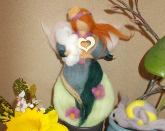 Wool fairy with a bunny