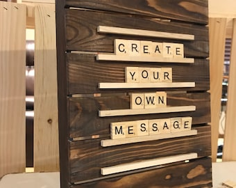 Stained Pallet Scrabble Board (9x12)