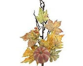 25 quot Fall Pumpkin Maple Leaf Vine Floral Spray-Fall Floral Decor-Fall Table Decorations-Vase or Bouquet Filler-Wreath Supply-Floral Supply