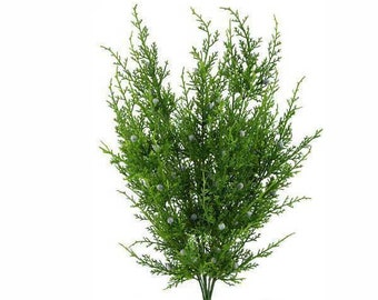 "21"" Artificial Juniper Spray/Stem/Pick/Vase Filler-Christmas/Winter Greenery-Holiday Home Decor-Artificial Evergreen Floral Supply"