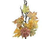 25 quot Fall Floral Spray Stem Pick w Pumpkins Maple Leaves-Rustic Fall Floral Bouquet-Fall Autumn Decor-Vase Filler-Wreath Floral Supply