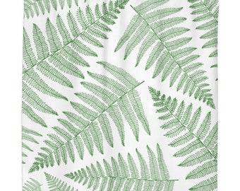 Fern Leaf Botanical Illustration Shower Curtain