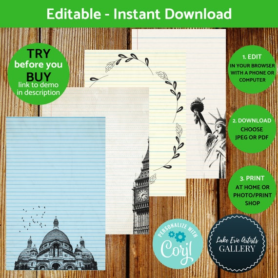 Printable Lined Architecture Notebook Paper