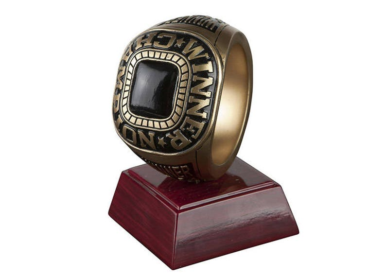 by DECADE AWARDS Championship Ring Trophy  Winner Victory Award