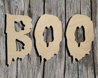 BOO - Multiple Sizes - Laser Cut Unfinished Wood Cutout Shapes