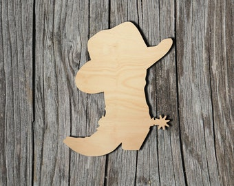 Many Sizes Available Home /& Room D\u00e9cor and other DIY projects Cowboy 003 Wooden Cutout for Crafting