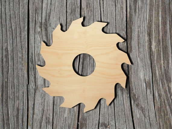 Saw Blade - Multiple Sizes - Laser Cut Unfinished Wood Cutout Shapes