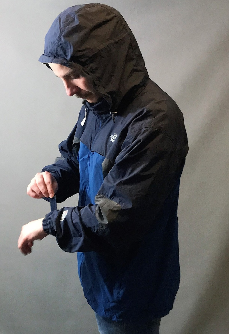 8e64b73c2 North Face Windbreaker jacket blue, grey size XL for the rough weathers.  Vintage late 90s