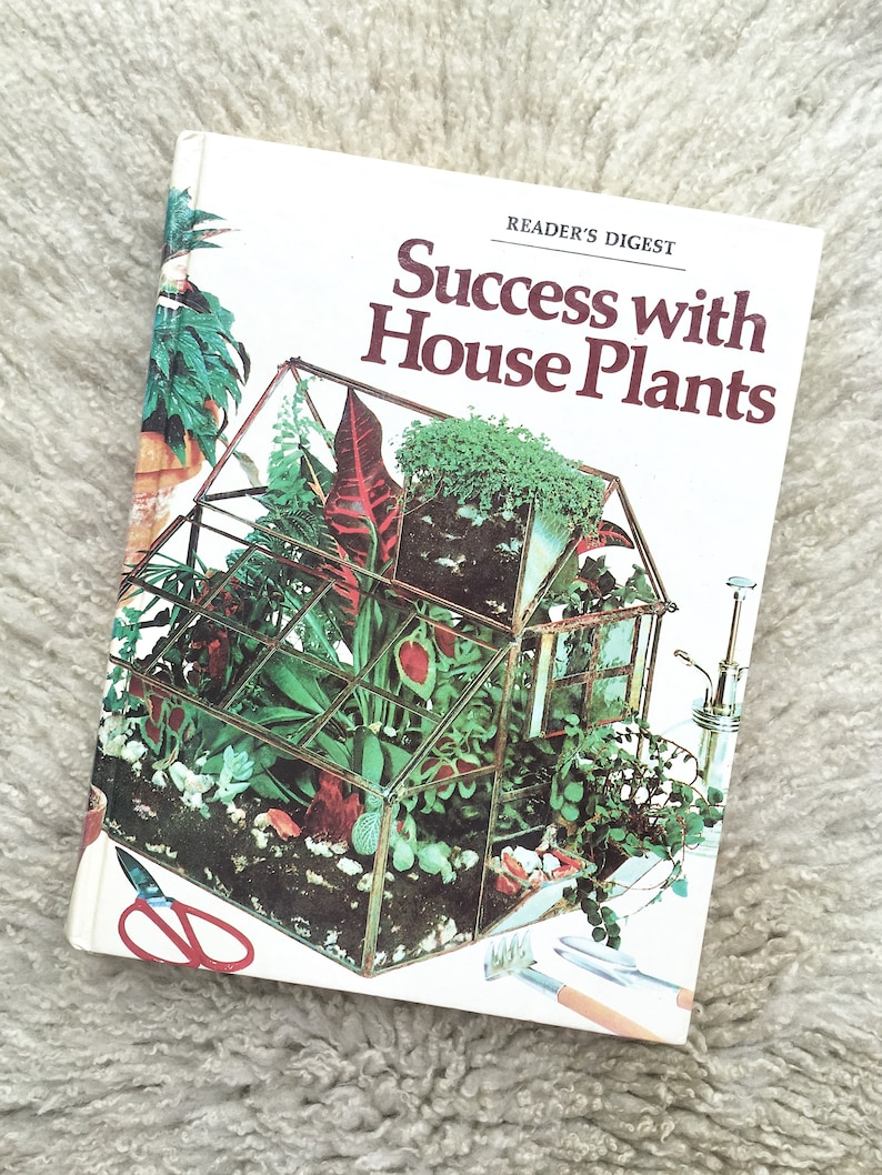 Super Vintage Educational Plant Book Success With Houseplants Hardcover Book Retro Home Plant Guide Interior Design Ideas Clesiryabchikinfo