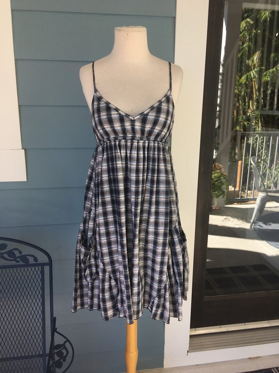 Punky Plaid Cotton Slip Dress
