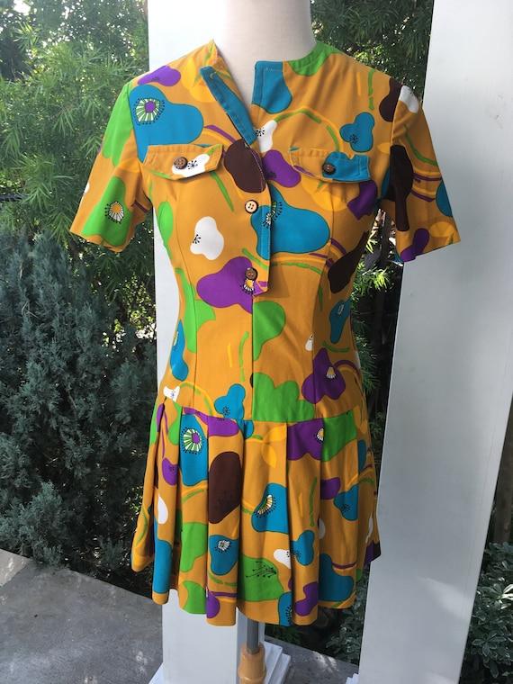 70s micro mini work dress - image 1