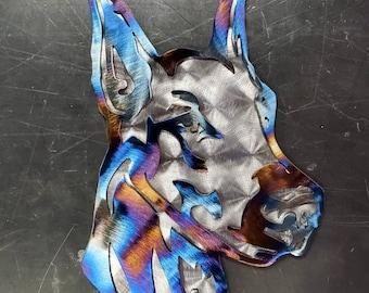 "12"" Layered Doberman Metal Art | Wall Hanger | Wall Art | Home Decor | Living Room | Entryway | Hallway | Dog | Kennel | Custom"