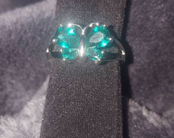 Size 9 Teal Butterfly Ring