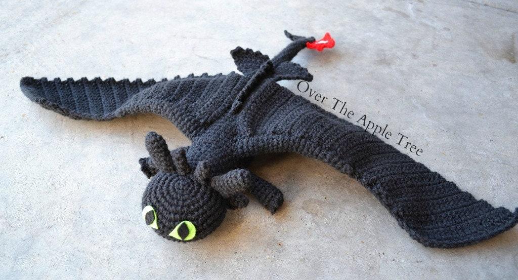 Dragon crochet pattern, Toothless amigurumi pattern, Night Fury ...