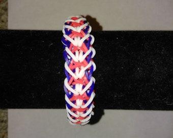 81b1eb58e34a Rainbow Loom Single Rhombus Style Friendship | Etsy