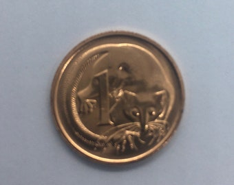 1991 Australian one cent coin ex mint set uncirculated coin.