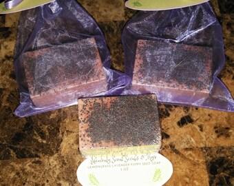 Lemongrass Lavender Poppy Seed Soap