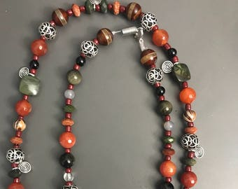 Egyptian/Kemetic inspired natural stone necklace
