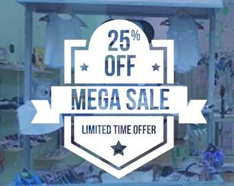 store discount decal-business liquidation sticker-door & window sign-store front vinyl lettering
