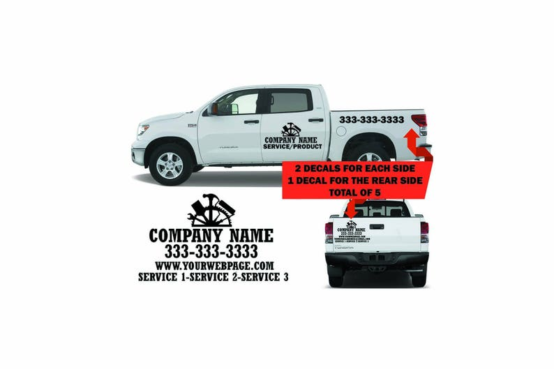 45ccd957b36292 Truck lettering-decal-sticker-custom made for cars suv