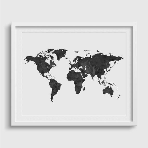 World map poster world map print world map wall art etsy image 0 gumiabroncs Choice Image